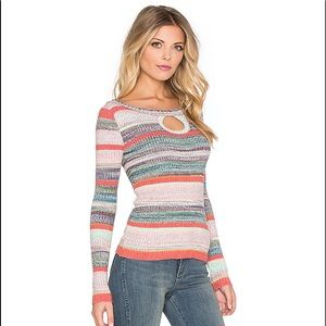 Free People Sunshine Dreamer Keyhole Sweater Multi